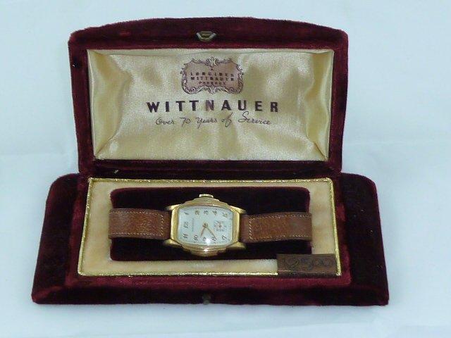VINTAGE WITTNAUER TANK WATCH IN THE ORIGINAL BOX