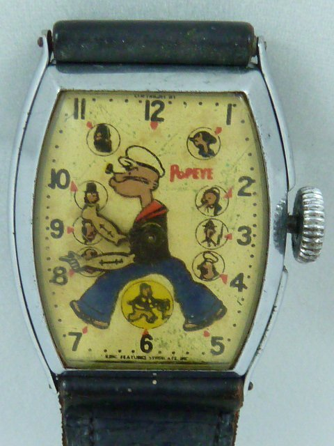 FIRST POPEYE CHARACTER WATCH BY NEW HAVEN CIRCA 1935