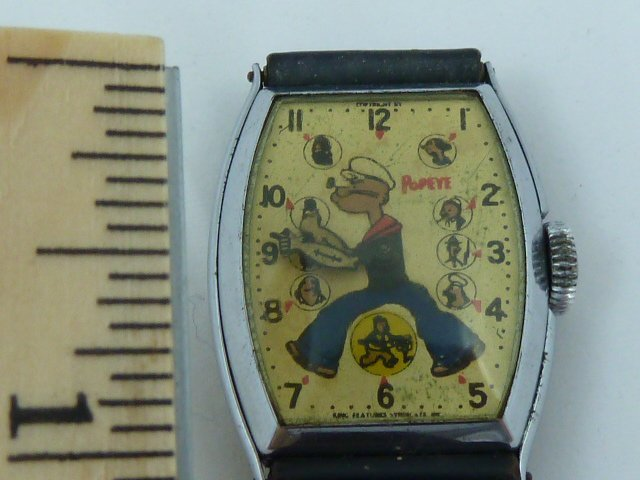 FIRST POPEYE CHARACTER WATCH BY NEW HAVEN CIRCA 1935 - 6