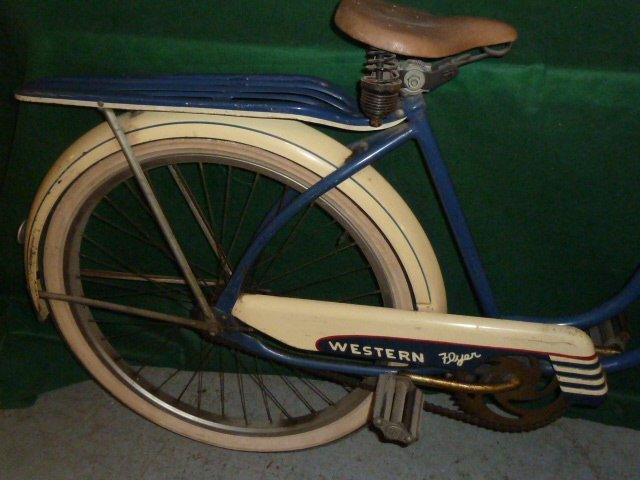 VINTAGE WESTERN FLYER BICYCLE WITH TANK 1950'S - 5