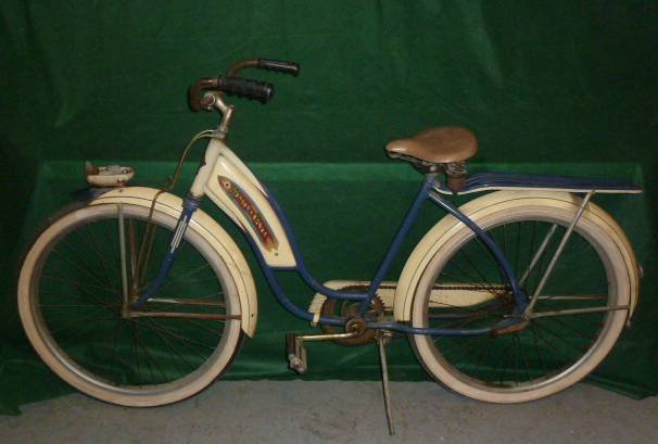 VINTAGE WESTERN FLYER BICYCLE WITH TANK 1950'S - 6