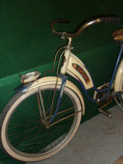 VINTAGE WESTERN FLYER BICYCLE WITH TANK 1950'S - 7