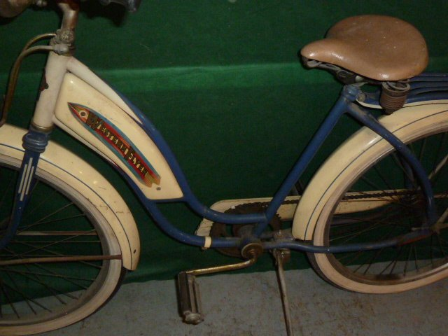 VINTAGE WESTERN FLYER BICYCLE WITH TANK 1950'S - 8