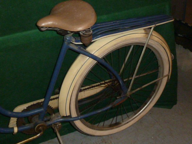 VINTAGE WESTERN FLYER BICYCLE WITH TANK 1950'S - 9