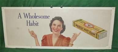 VINTAGE BEECH-NUT ADVERTISING STORE DISPLAY POSTER