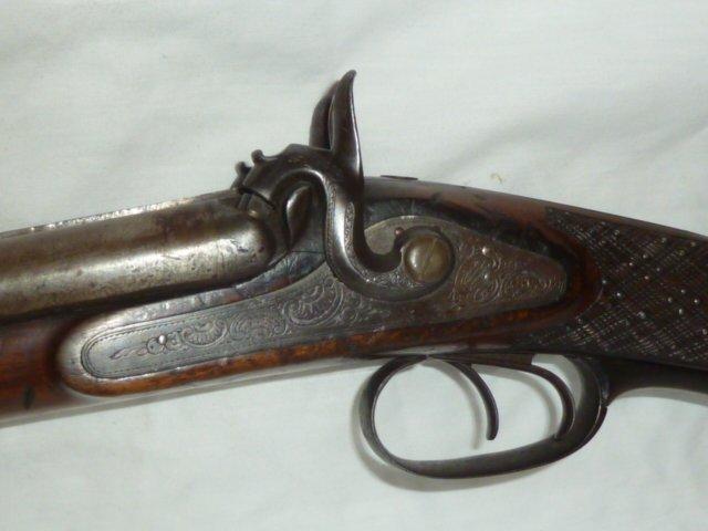 F.WEISGERBER ENGRAVED SHOTGUN 19TH CENTURY - 2