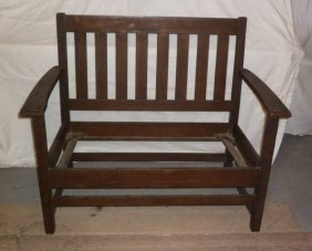 Arts & Crafts Signed Limbert Settee