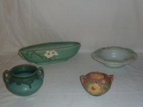 Art Pottery Roseville Weller 4 Piece Lot