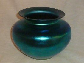 Steuben Blue Aurene Glass Center Bowl