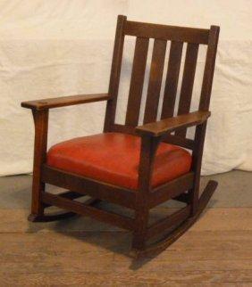 Stickley Arts & Crafts Arm Chair Rocker