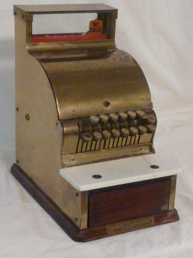 1900's Brass Barber Shop Cash Register