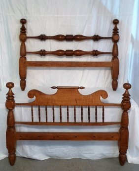 Circa 1820 Tiger Maple Rope Bed