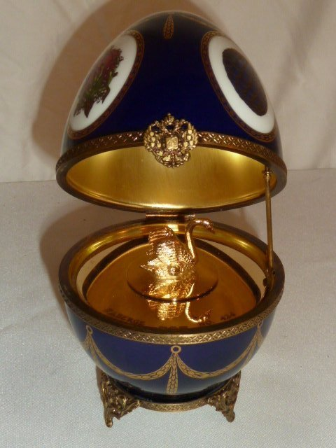 FABERGE LIMOGES IMPERIAL MUSICAL EGG MIB