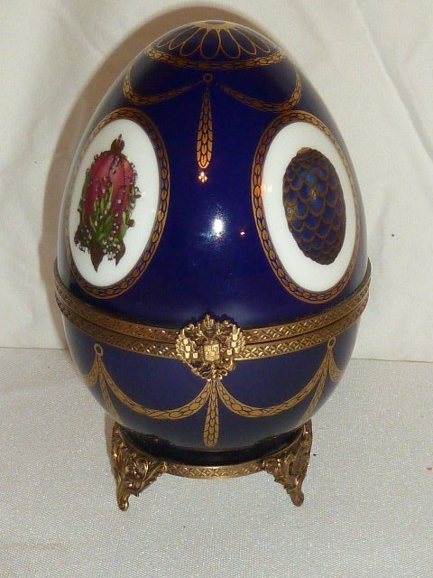 FABERGE LIMOGES IMPERIAL MUSICAL EGG MIB - 2