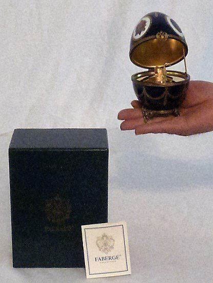 FABERGE LIMOGES IMPERIAL MUSICAL EGG MIB - 9