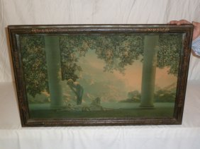 Maxfield Parish Print Original Frame
