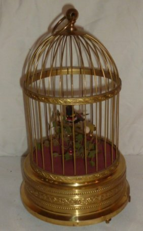 German Automaton Singing Birdcage