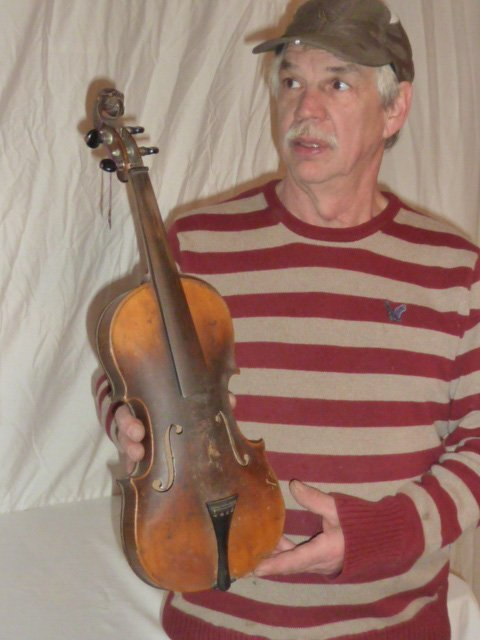 1890'S CARVED LION'S HEAD VIOLIN CURLY MAPLE - 7