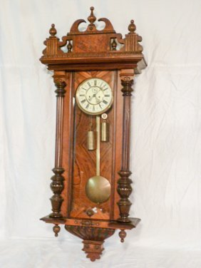 Gustav Becker Cased Vienna Wall Regulator Clock