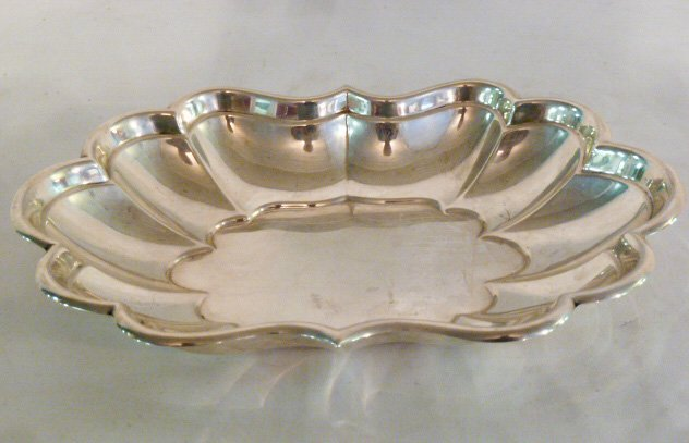 "REED & BARTON STERLING 12"" BREAD TRAY WINDSOR"