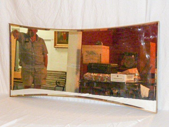 MID-CENTURY DESIGNER HOUR GLASS SHAPED MIRROR - 3