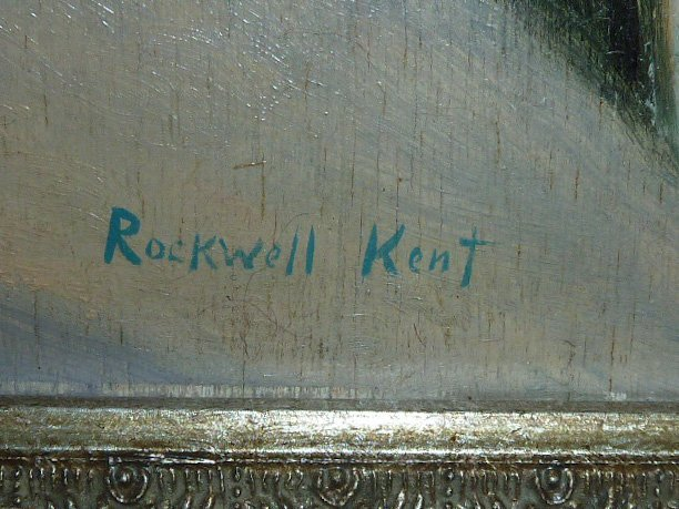"""ROCKWELL KENT OIL ON BOARD """" SNOWED IN """" - 3"""
