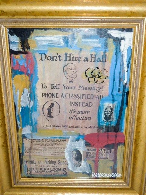 """RAUSCHENBERG """"DON'T HIRE A HALL"""" COLLAGE"""
