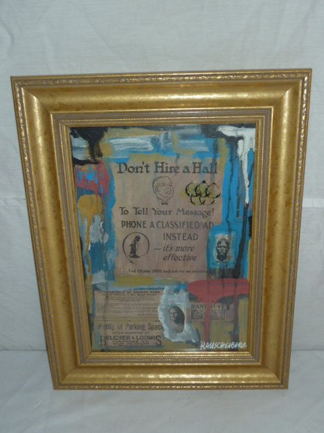 """RAUSCHENBERG """"DON'T HIRE A HALL"""" COLLAGE - 2"""