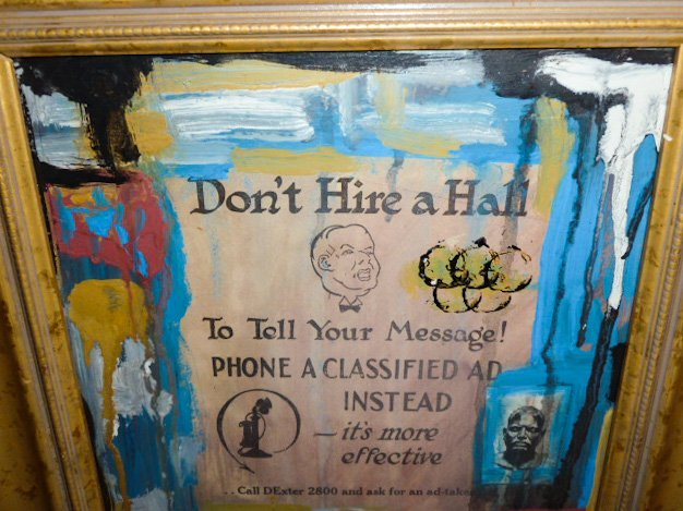 """RAUSCHENBERG """"DON'T HIRE A HALL"""" COLLAGE - 3"""