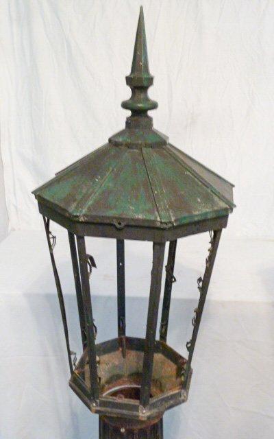 PR. CAST IRON POST LAMPS 3 PART COPPER HOODED - 3