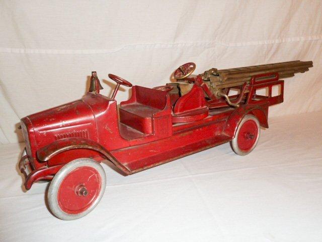 1920'S BUDDY L AERIAL LADDER FIRE TRUCK - 2