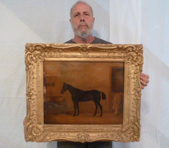 CIRCA 1900'S HORSE PAINTING