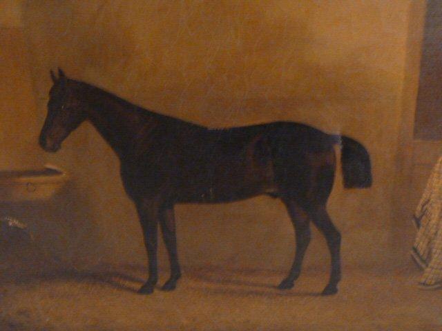 CIRCA 1900'S HORSE PAINTING - 2