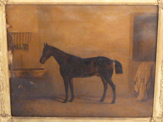 CIRCA 1900'S HORSE PAINTING - 3
