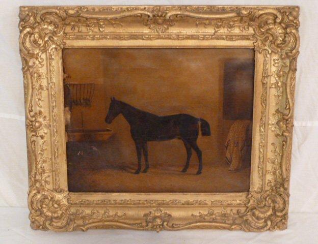 CIRCA 1900'S HORSE PAINTING - 7