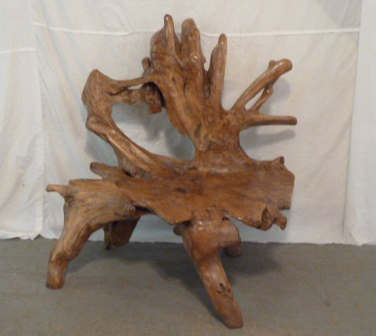 FREE FORM CUSTOM MADE ROOT BENCH