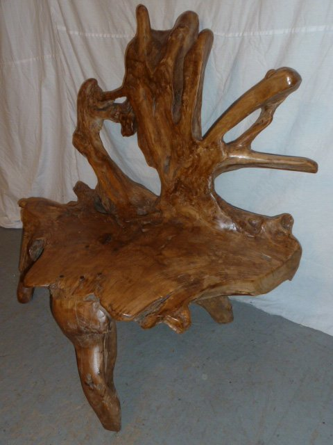 FREE FORM CUSTOM MADE ROOT BENCH - 3