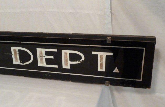 ANTIQUE REVERSE PAINTED PRESCRIPTION DEPT SIGN - 3