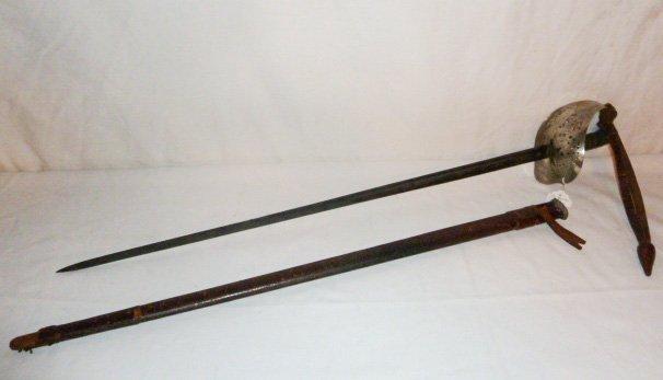 19TH C. ENGLISH CAVALRY SWORD & SCABBARD G.BOYTON - 2