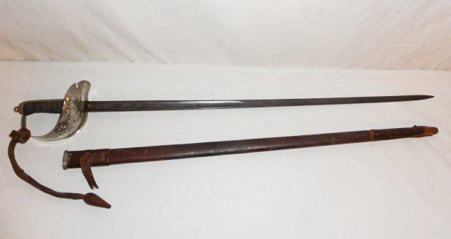 19TH C. ENGLISH CAVALRY SWORD & SCABBARD G.BOYTON - 8