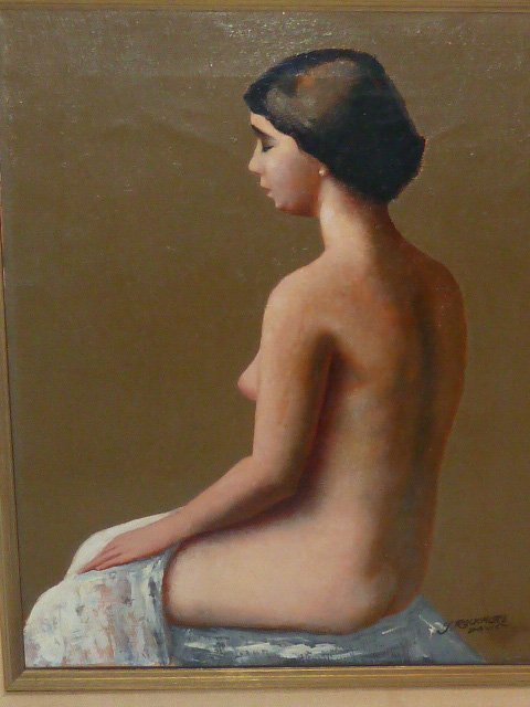 19TH CENTURY NUDE PORTRAIT WOMAN L.ROCKMORE DAVIS