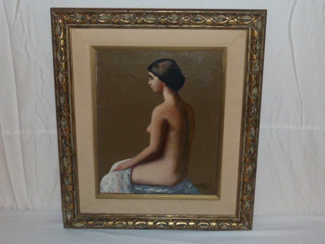 19TH CENTURY NUDE PORTRAIT WOMAN L.ROCKMORE DAVIS - 4