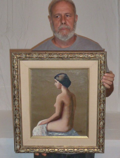 19TH CENTURY NUDE PORTRAIT WOMAN L.ROCKMORE DAVIS - 7