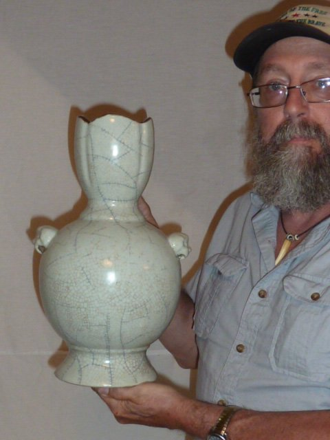 ANTIQUE CHINESE CARVED VASE