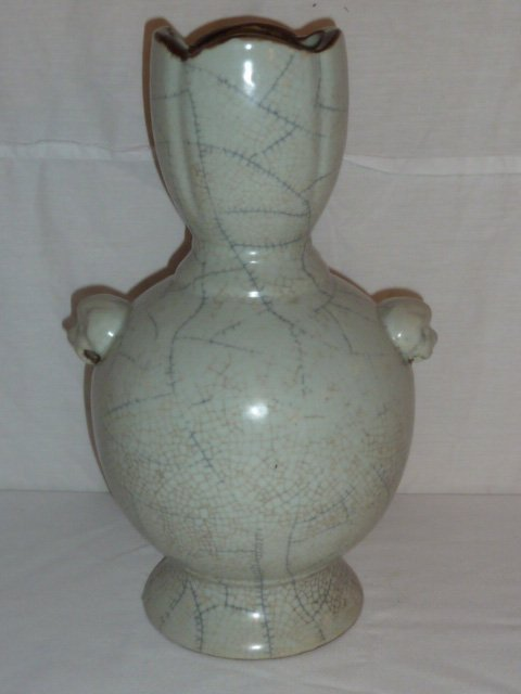 ANTIQUE CHINESE CARVED VASE - 3