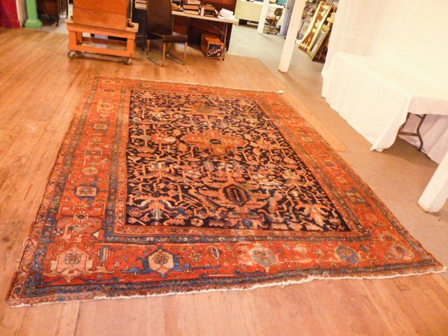 ANTIQUE HAND KNOTTED WOOL RUG/CARPET