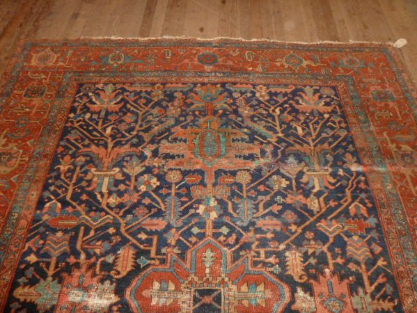 ANTIQUE HAND KNOTTED WOOL RUG/CARPET - 2