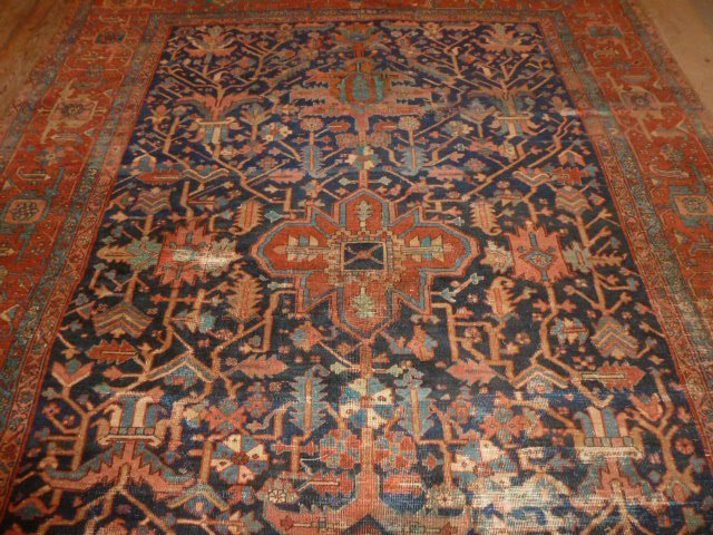 ANTIQUE HAND KNOTTED WOOL RUG/CARPET - 3
