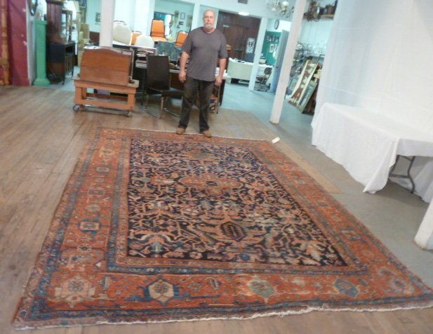 ANTIQUE HAND KNOTTED WOOL RUG/CARPET - 5