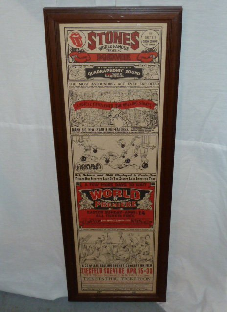 ROLLING STONES COMPLETE CONCERT MOVIE POSTER